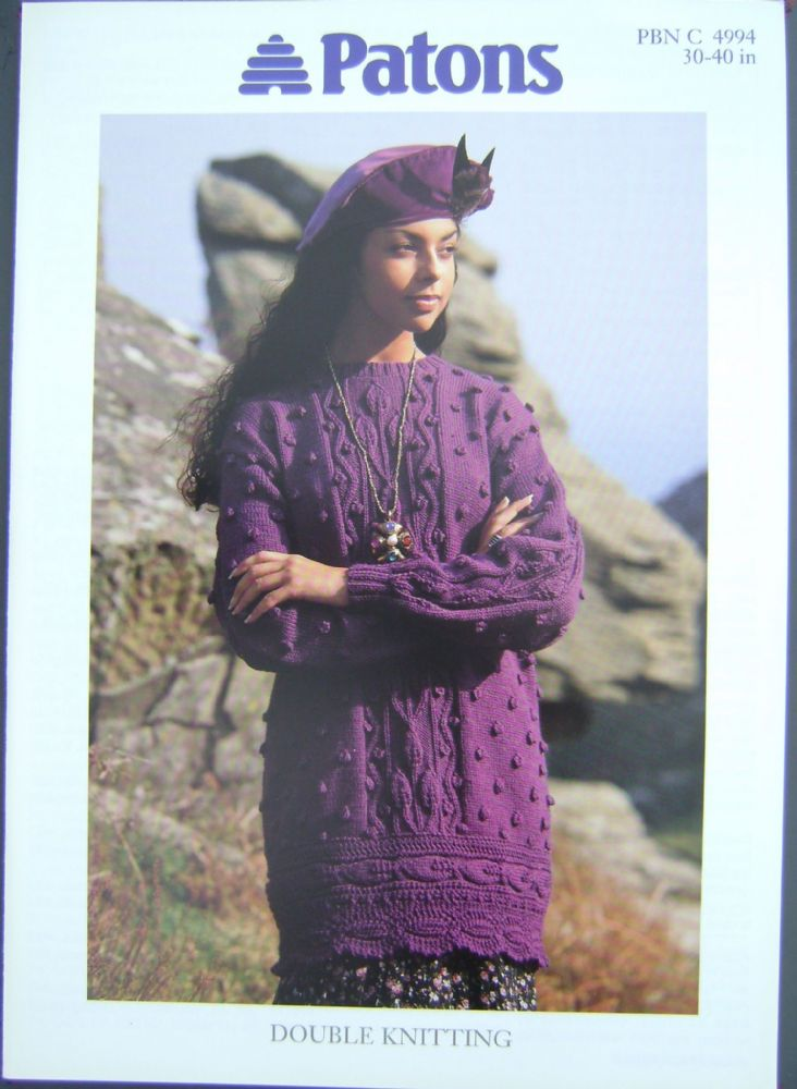 Patons Knitting Pattern 4994